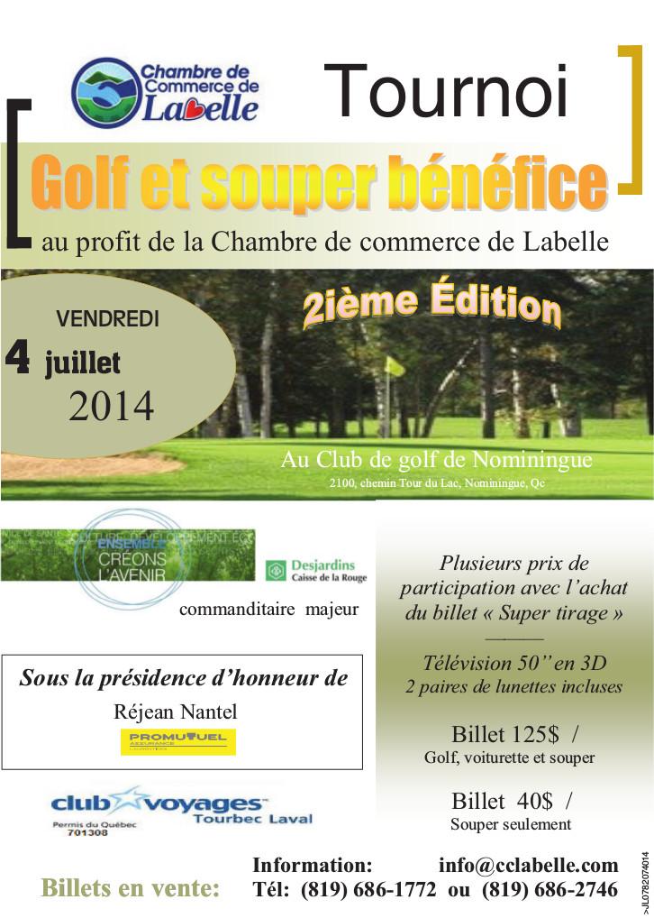 Tournois de golf 2014 chambre de commerce de labelle for Poste chambre de commerce